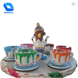 24 Orang Amusement Park Thrill Rides Family Mainkan Coffee Cup Ride OEM / ODM Tersedia